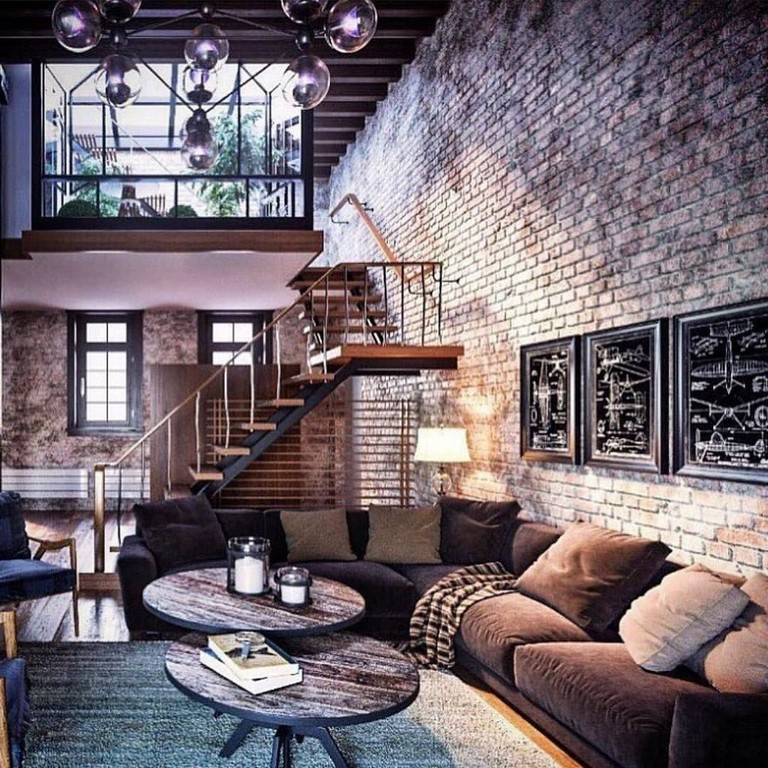 40+ Incredible Exposing Bricks Design Ideas #loftdesign