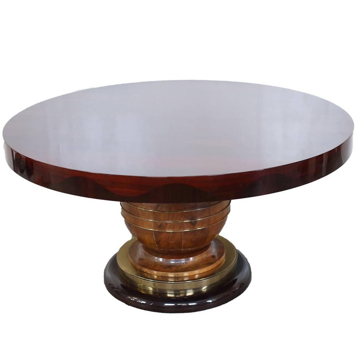 Round Art Deco Dining Table Circa 1940s