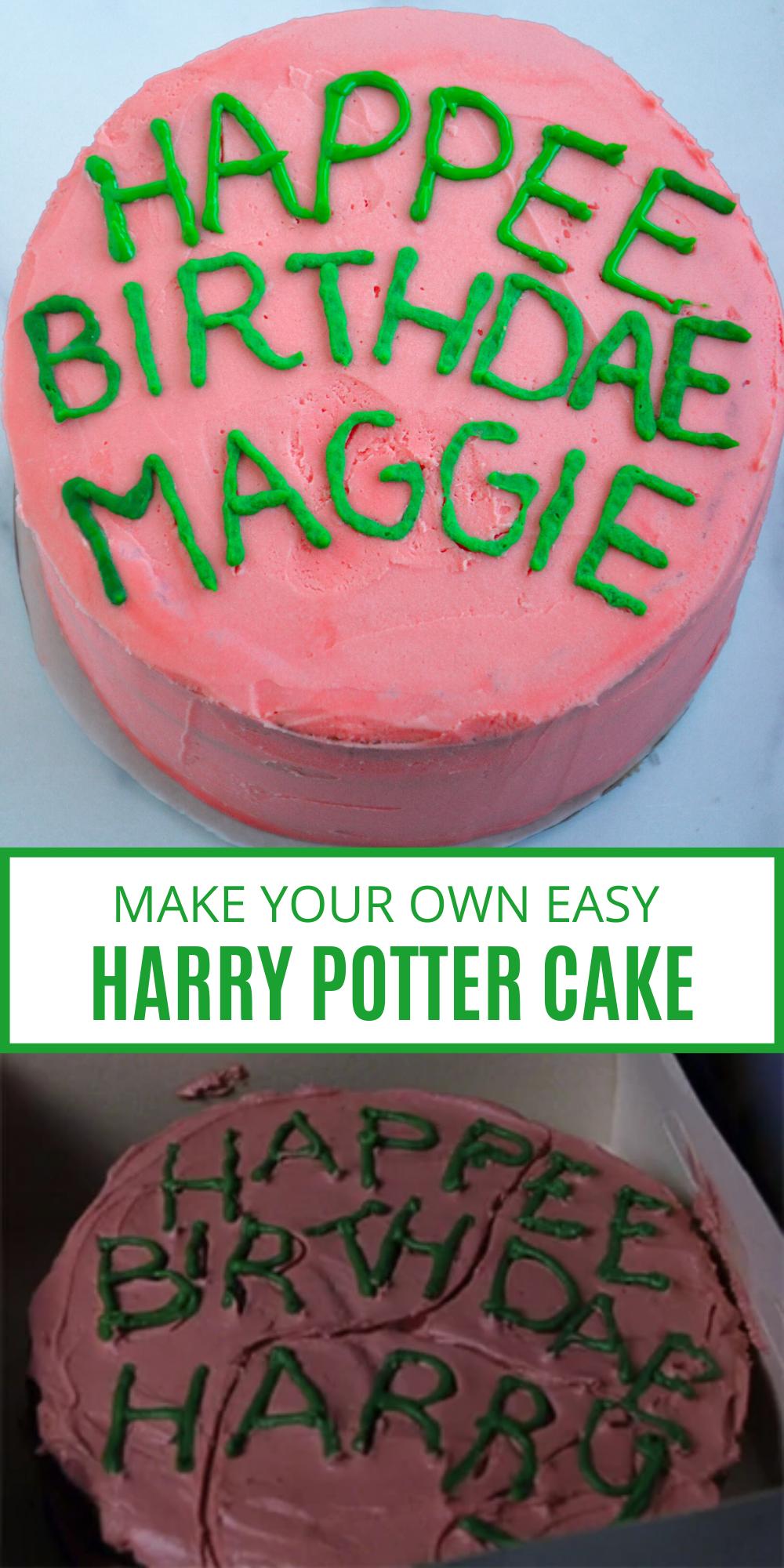Harry Potter Birthday Cake Recipe Harry Potter Birthday Cake Harry Potter Cake Book Cakes
