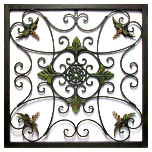 Infinity Instruments Leaves  Medallion in Sage Patina Wall Hanging