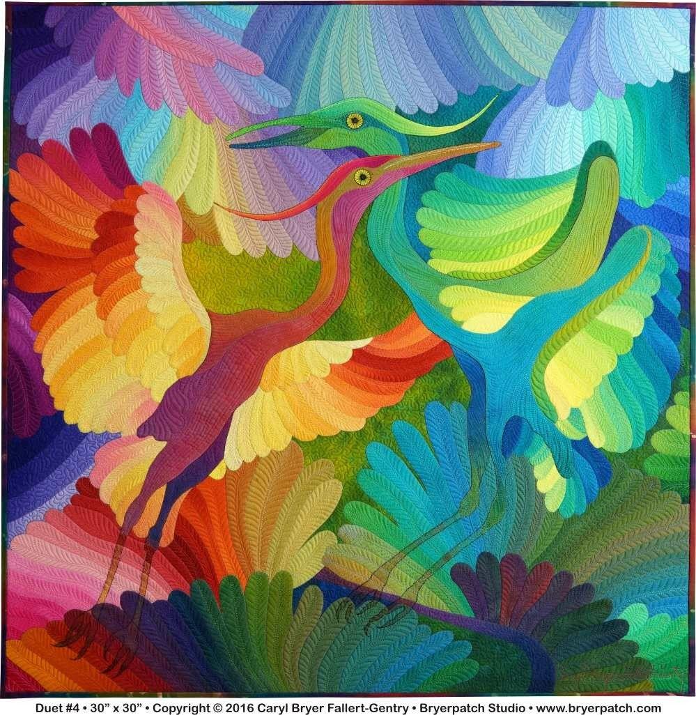 Duet 4 art quilt by caryl bryer fallertgentry