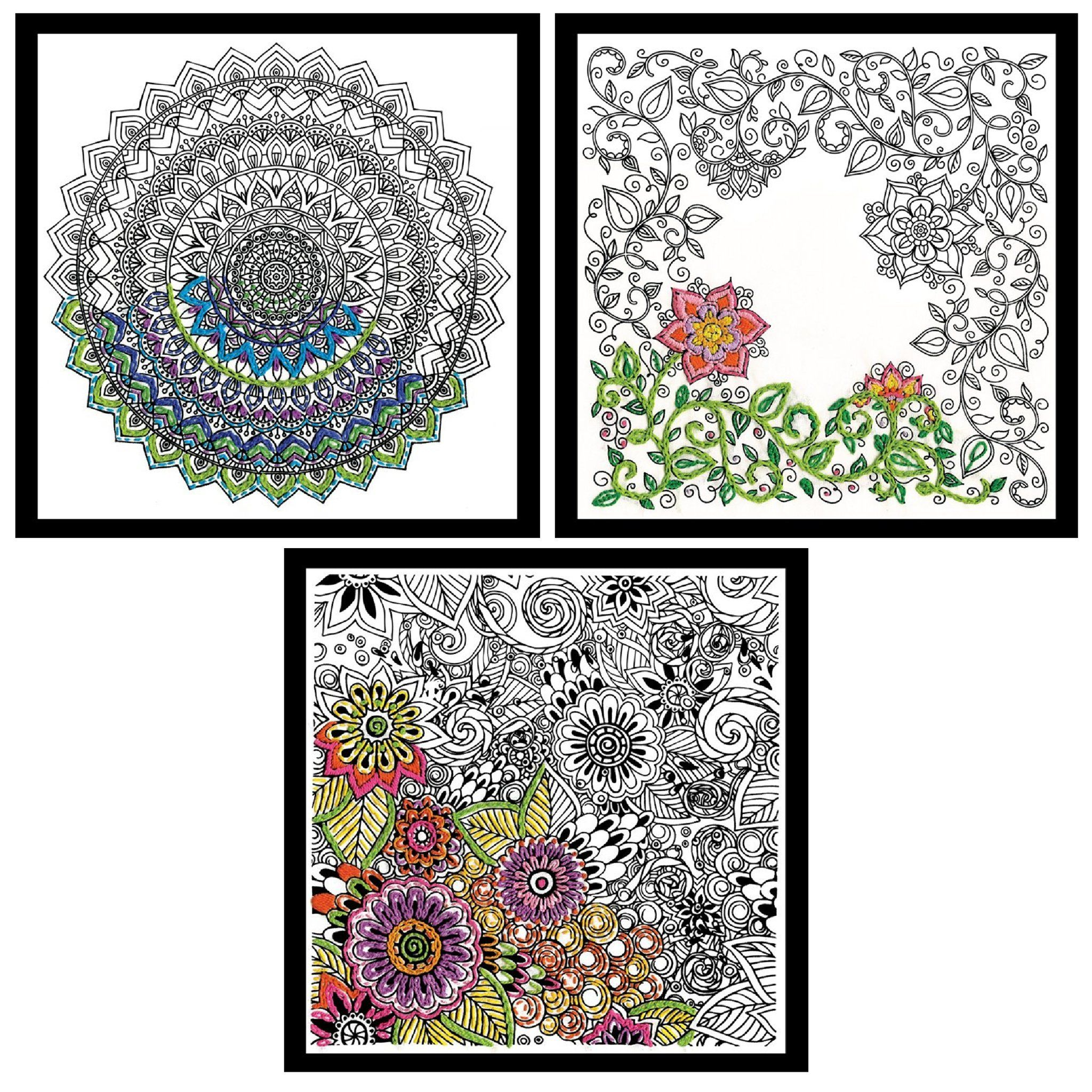 Tobin 4011 10 x 10 Garden Zenbroidery Stamped Embroidery