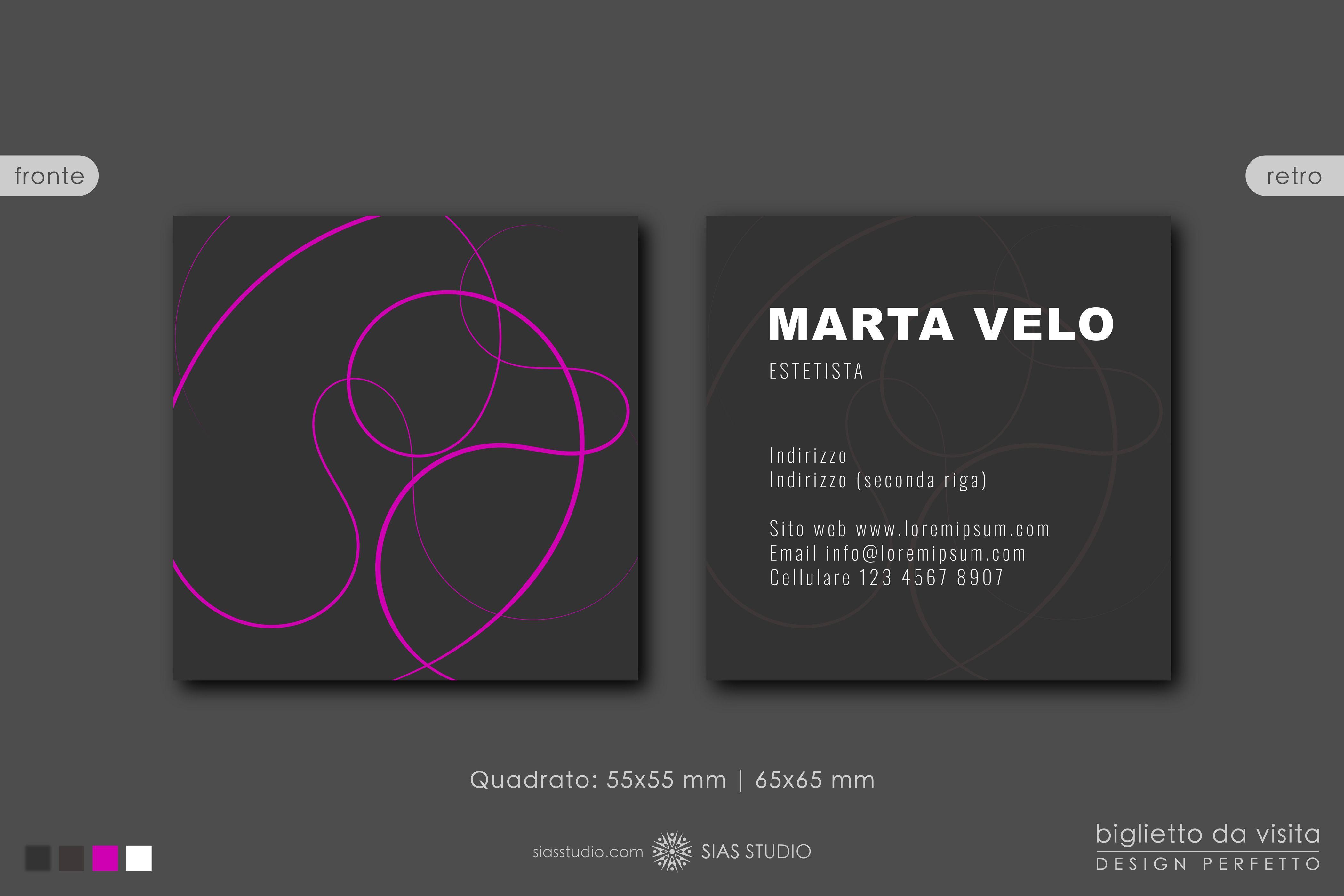 Modello Per Biglietto Da Visita Marta Velo Design Fantasia