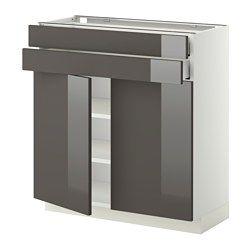 Systeme Metod Element Bas Hauteur Caisson 80 Cm Ikea Base
