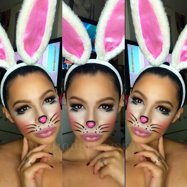Blogger Image 140091970 Jpg 640 640 Bunny Makeup Bunny Halloween Makeup Halloween Makeup Easy