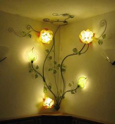 Custom made italian yellow rose corner wall lamp home ideas custom made italian yellow rose corner wall lamp mozeypictures Images