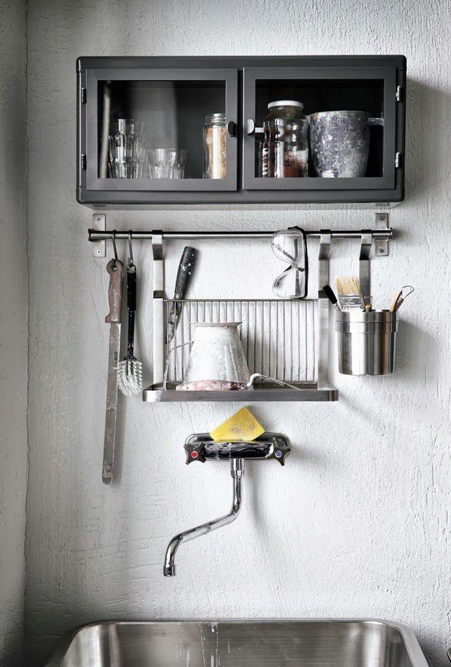 Grey Kitchen Cupboard   Ikea Raskog