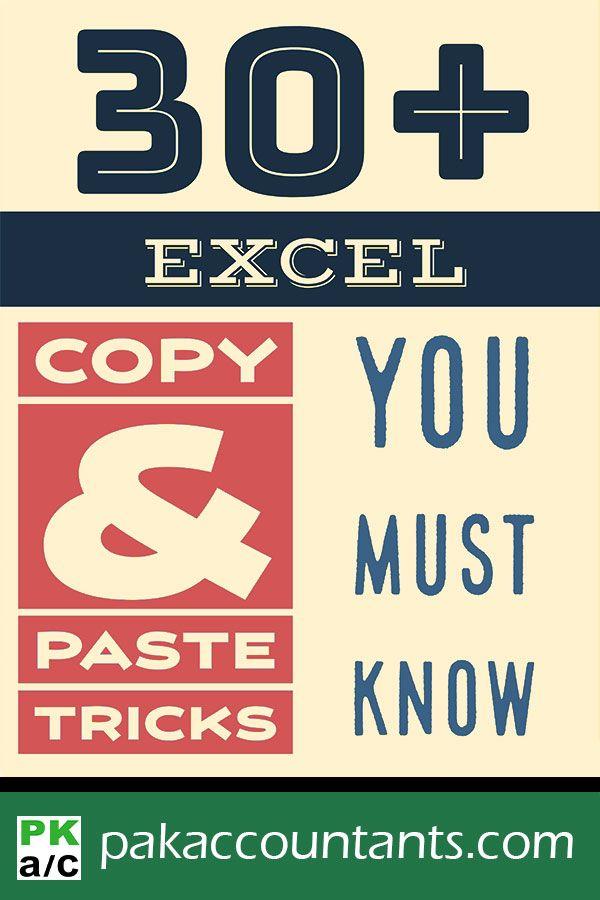 30+ Excel Copy & Paste Tricks You Must Know
