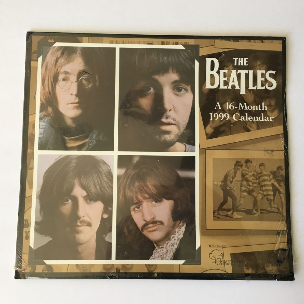 The Beatles 1999 16 Month Wall Calendar 12 Large Photos New Old