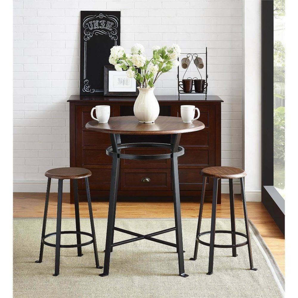 Small Round Dining Table Set Apartment 3 Piece For 2 Kitchen