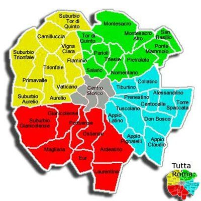 Quartieri Roma Cartina.Image Result For Mappa Dei Quartieri Di Roma Mappa Roma