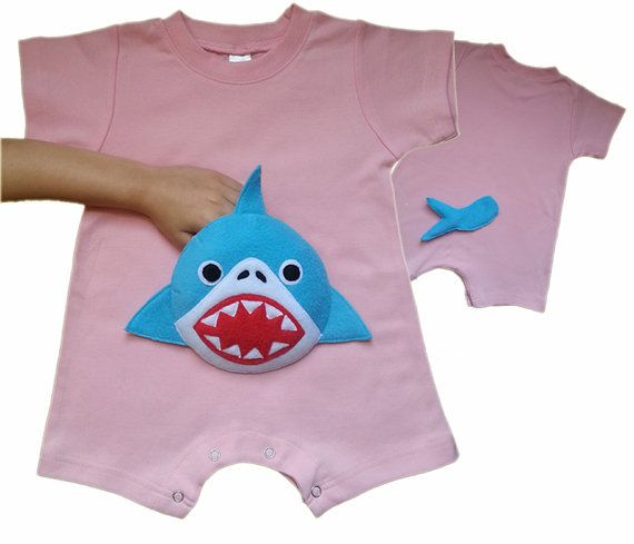Mommy Sharks Baby Girl Boy Jersey Bodysuits Short-Sleeve Romper