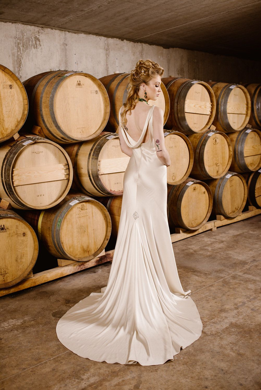 Boho vineyard wedding dress leaann belter maya via the toronto