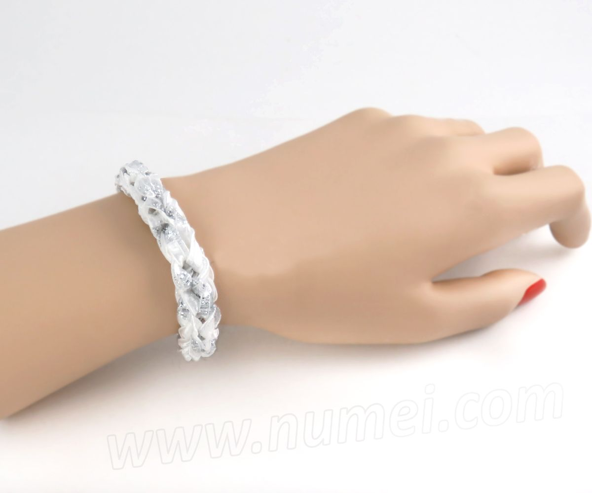 Free Pattern: Knit Ribbon Choker Necklace and Bracelet | Easy ...
