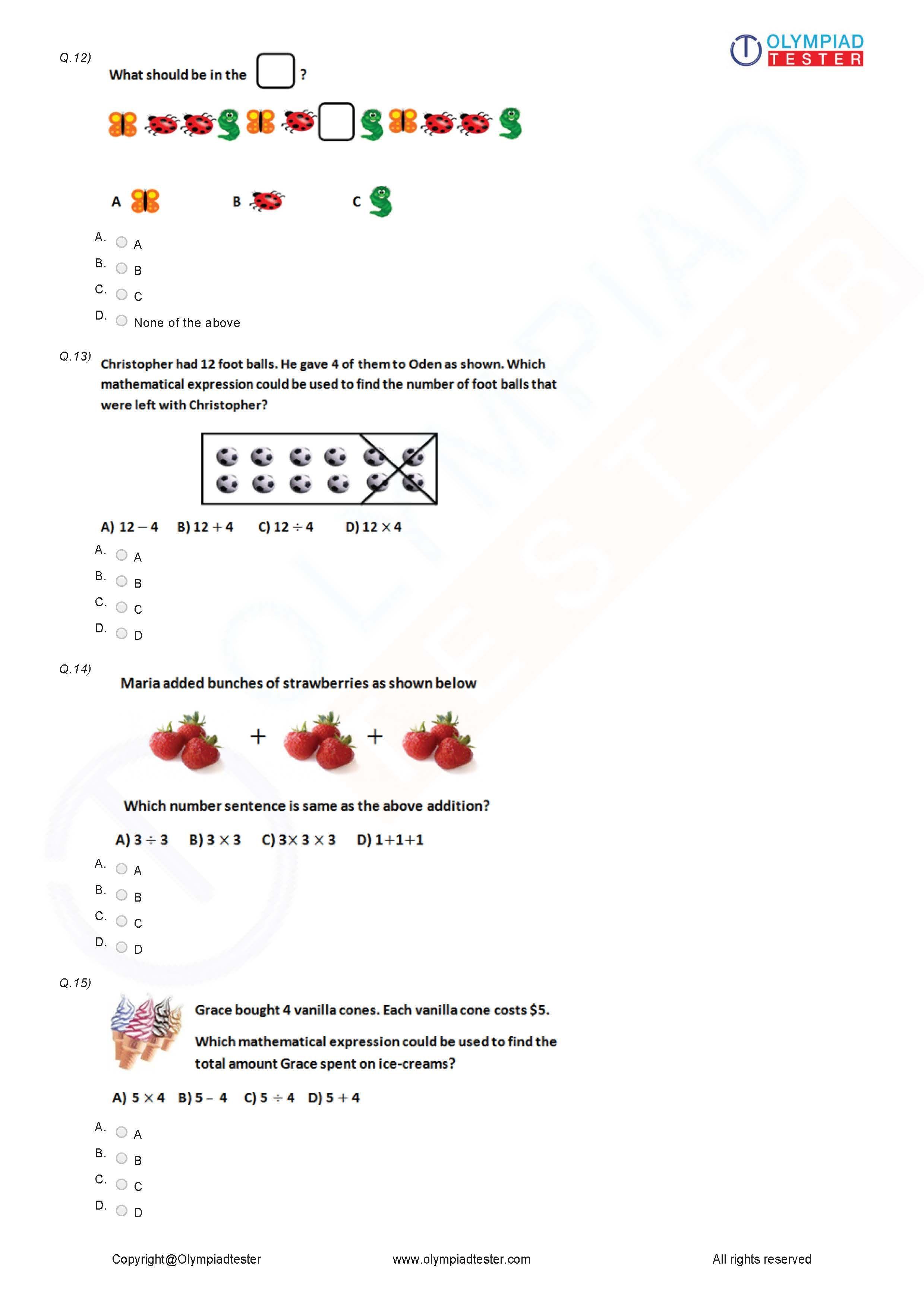 Class 3 Logical Reasoning Worksheet 02