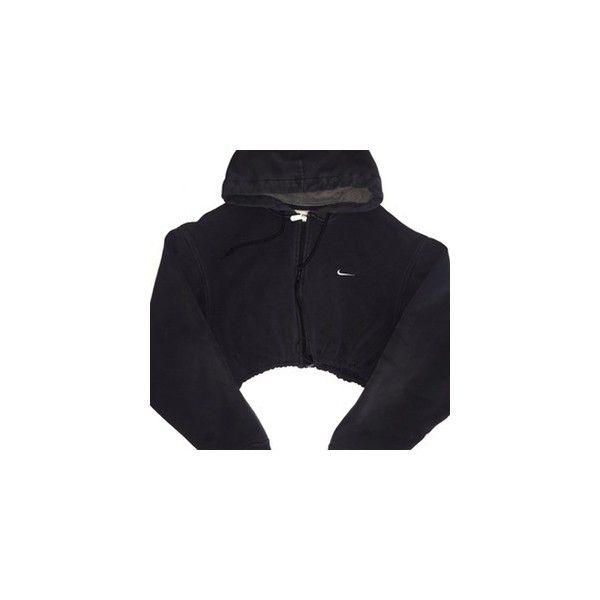 2dda709b Reworked Adidas Stripe Crop Hoody ($48) ❤ liked on Polyvore ...
