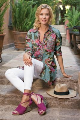 Scattered Roses Shirt from Soft Surroundings