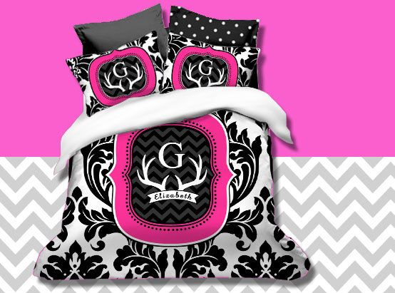 Hey, I found this really awesome Etsy listing at https://www.etsy.com/listing/212989767/custom-monogrammed-deer-duvet-cover-set