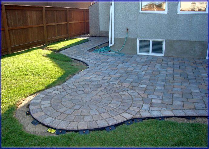 Interlocking patio tiles