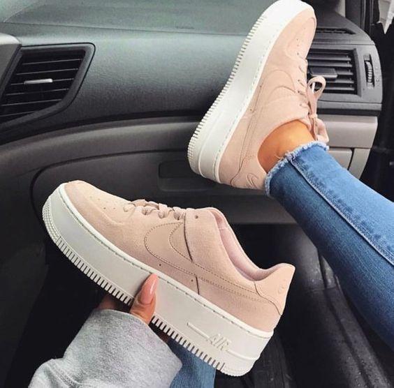 zapatillas casual de mujer air force 1 sage low nike