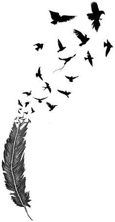 Birds Tattoos Clipart Best Clipart Best Feather Tattoos Line Tattoos Temp Tattoo