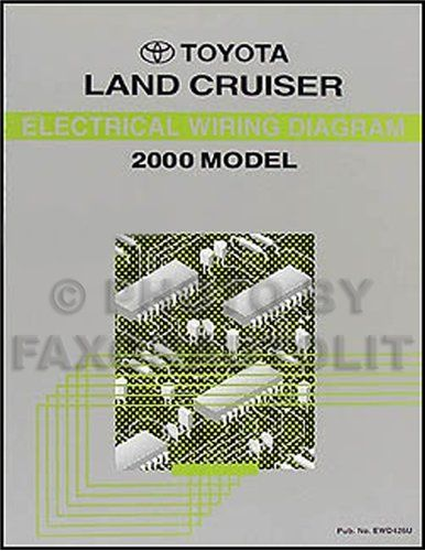 2000 toyota land cruiser wiring diagram manual original toyota rh pinterest com Toyota Igniter Diagram 85 Toyota Pickup Wiring Diagram