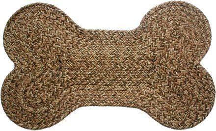 Dog Bone Braided Rug Brown Tweed By Stroud Rugs 32 00 Durable