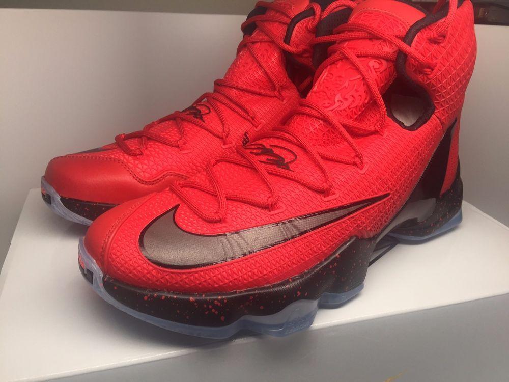 NIKE LEBRON XIII ELITE UNIVERSITY RED BLACK BRIGHT CRIMSON 831923 606 SIZE  10  Nike   8410f20ca