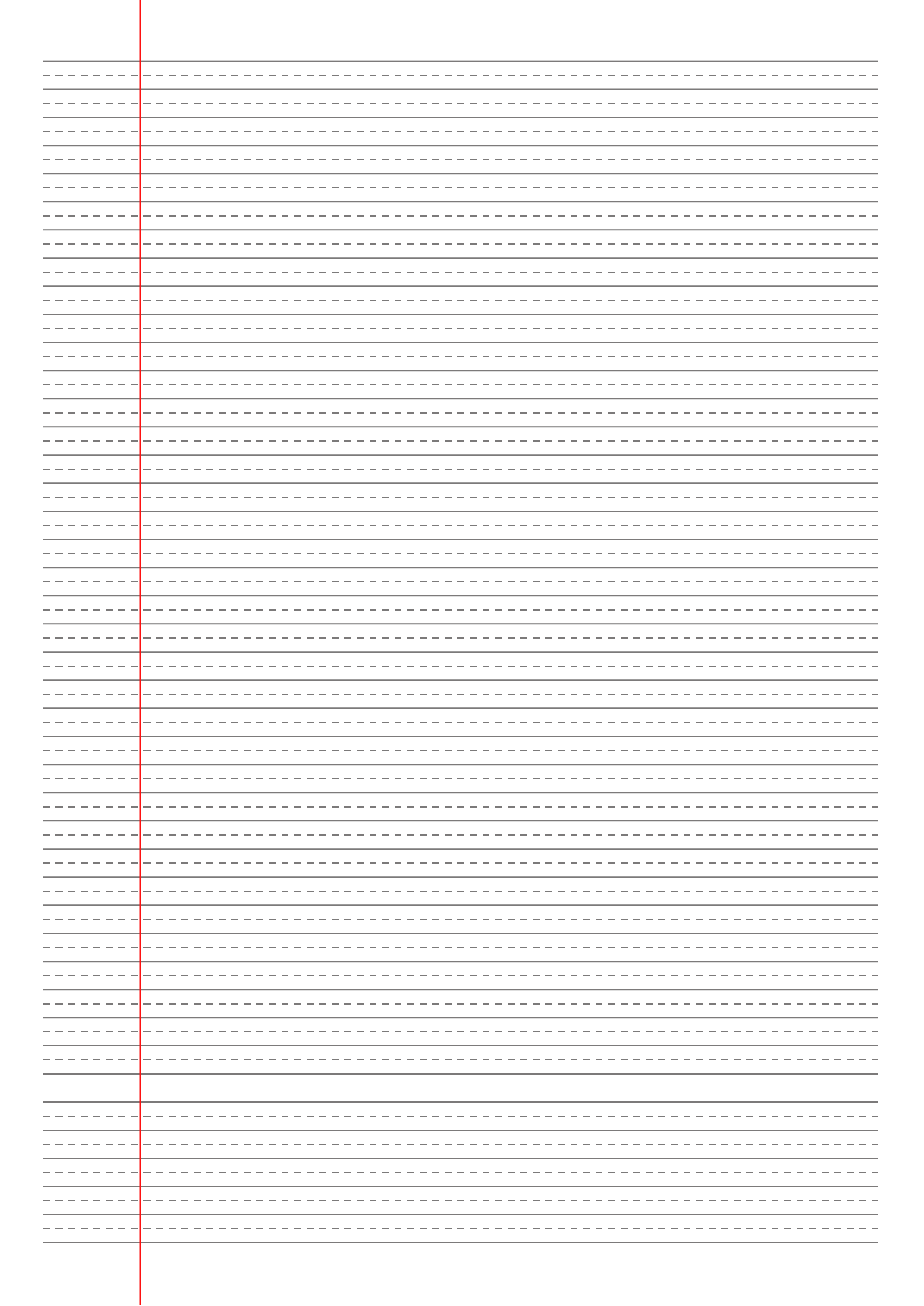 Printable Narrow Ruled With Dashed Center Guide Line Gray Lines Pdf Download Printable Lined Paper Ruled Paper Handwriting Paper