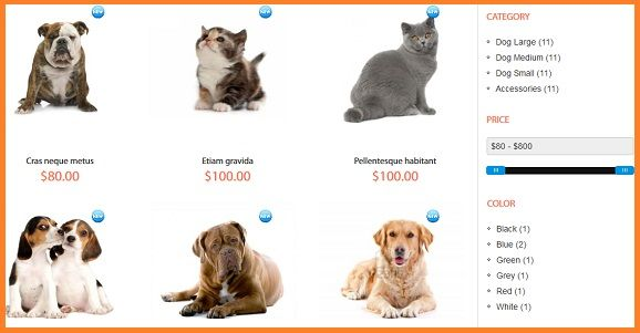 pet shop magento templates