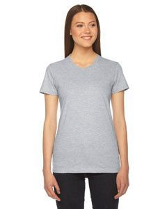 American Apparel Ladies' Fine Jersey Short-Sleeve T-Shirt 2102 HEATHER GREY
