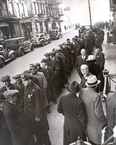 Photo of NYC 1930-Depression Employment Line
