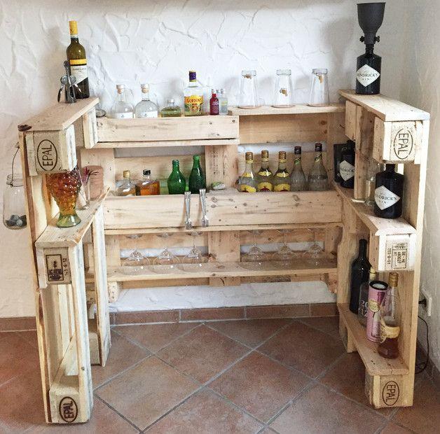 BAR / EURO-PALETTEN / naturbelassen | Europalette, Bar und Holz