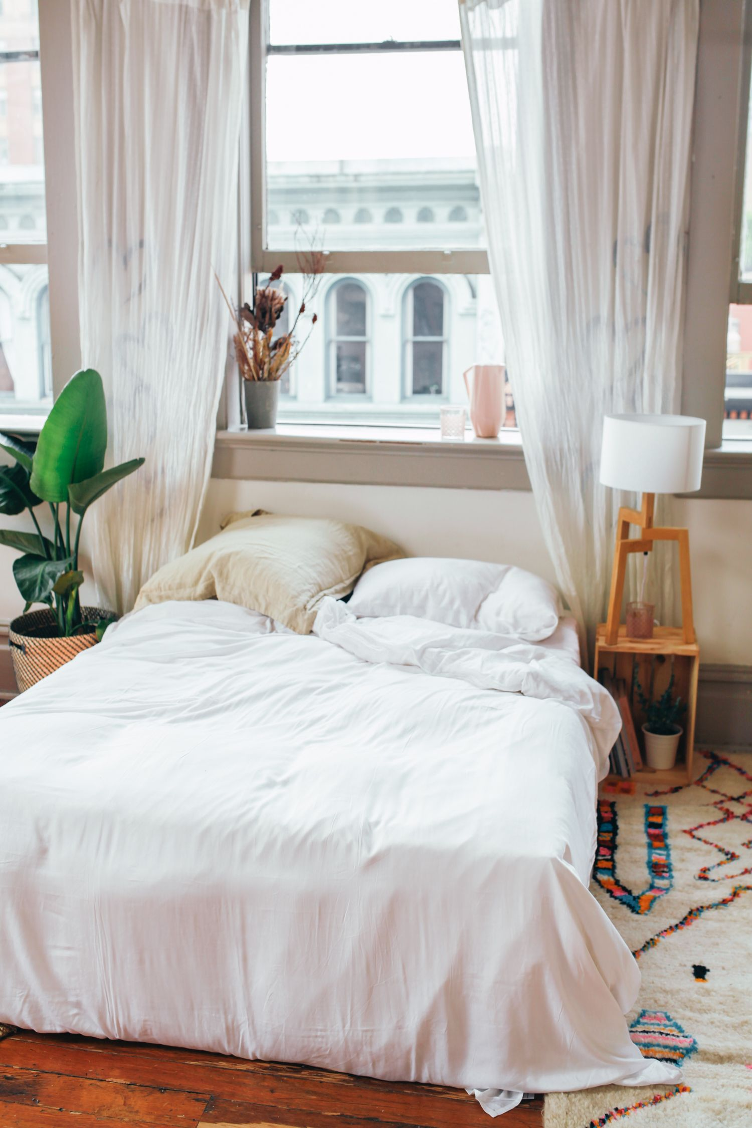 Cozy Up // Bamboo and Bohemian Space Home Bedroom