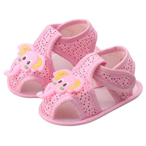 Inkach Baby Infant Sandals Cartoon Elephant Pattern Baby Soft Sole Shoes  Toddler Sandals 1218 Month pink
