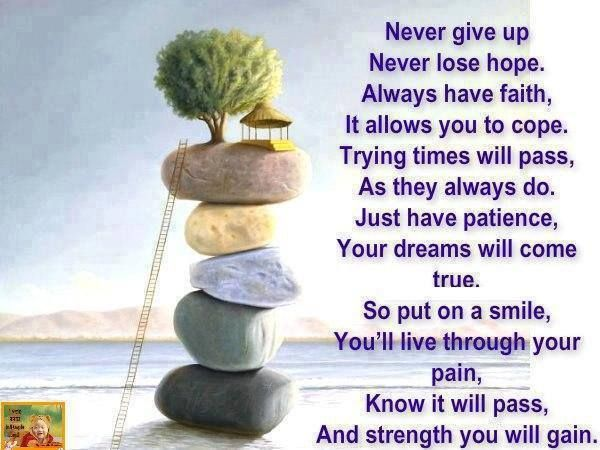 Exceptional Never Give Up, Never Lose Hope, Always Have Faith: Quote About Never Give Amazing Pictures