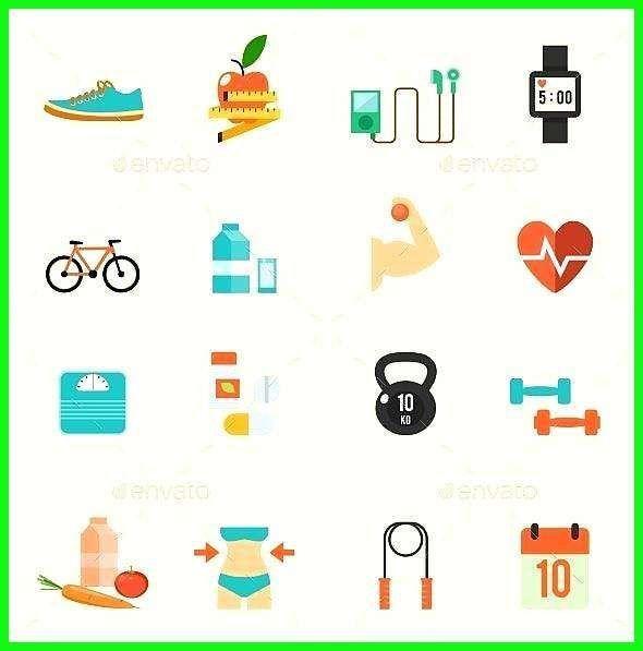 40+ *  Fitness- und Gesundheitssymbole - Fitness- und Gesundheitssymbole #AD #Fitness, #s ... -  S...