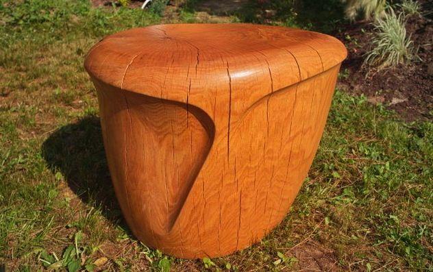 oak stool by Denis Milovamov