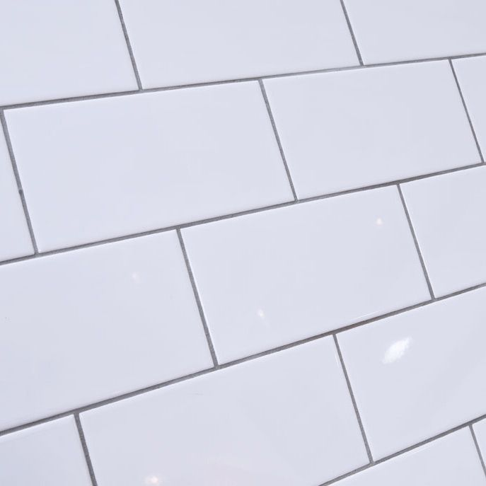 Metro Flat Gloss White Brick Tile Jpg 687 687 Pixels Brick Tiles White Brick Tiles Metro Tiles Kitchen