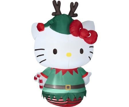 Hello Kitty Christmas Elf Inflatable Outdoor Decoration ハロー - christmas blow up decorations