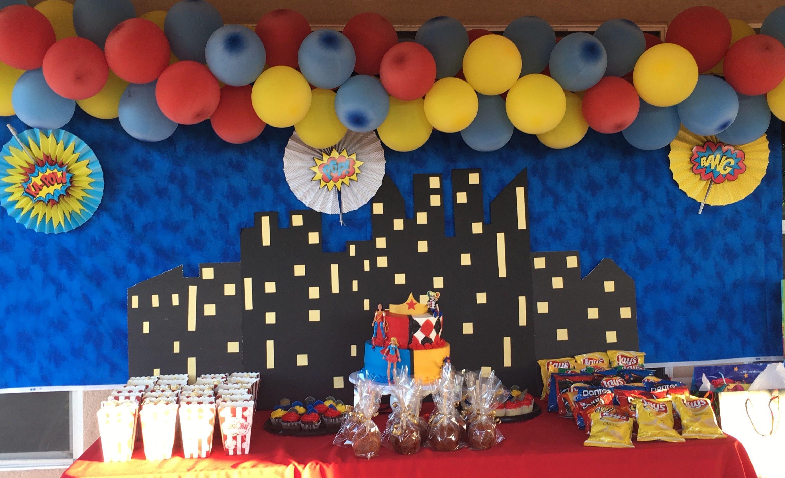 Baby Shower Themes Batman Dc Super Hero Girls Birthday Party