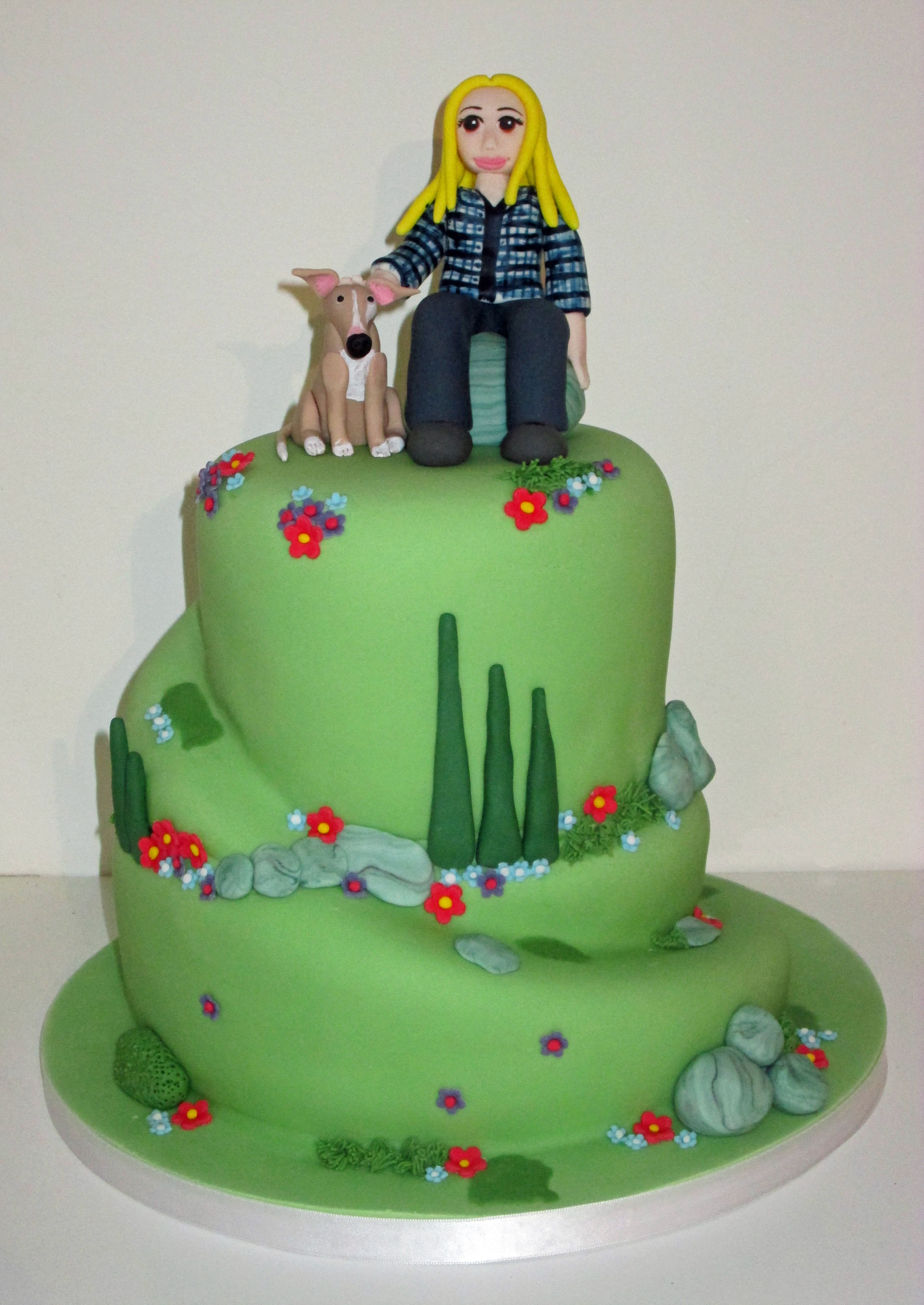 Hill Walking Cake by The Coloured Bubble Cakery celia ...