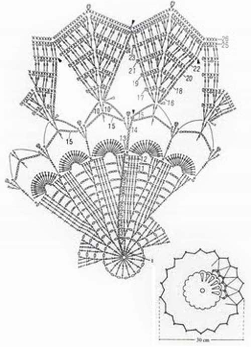 free crochet patterns 256 DOILY CROCHET TRIANGLES   Crochet ...