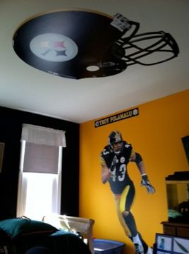 Boys Room Decorating With NFL Team Colors | Hallco Painting