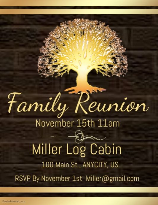 Find Design Templates For Gathering Easy To Customize Download And Print Family Reunion Invitations Templates Family Reunion Invitations Reunion Invitations