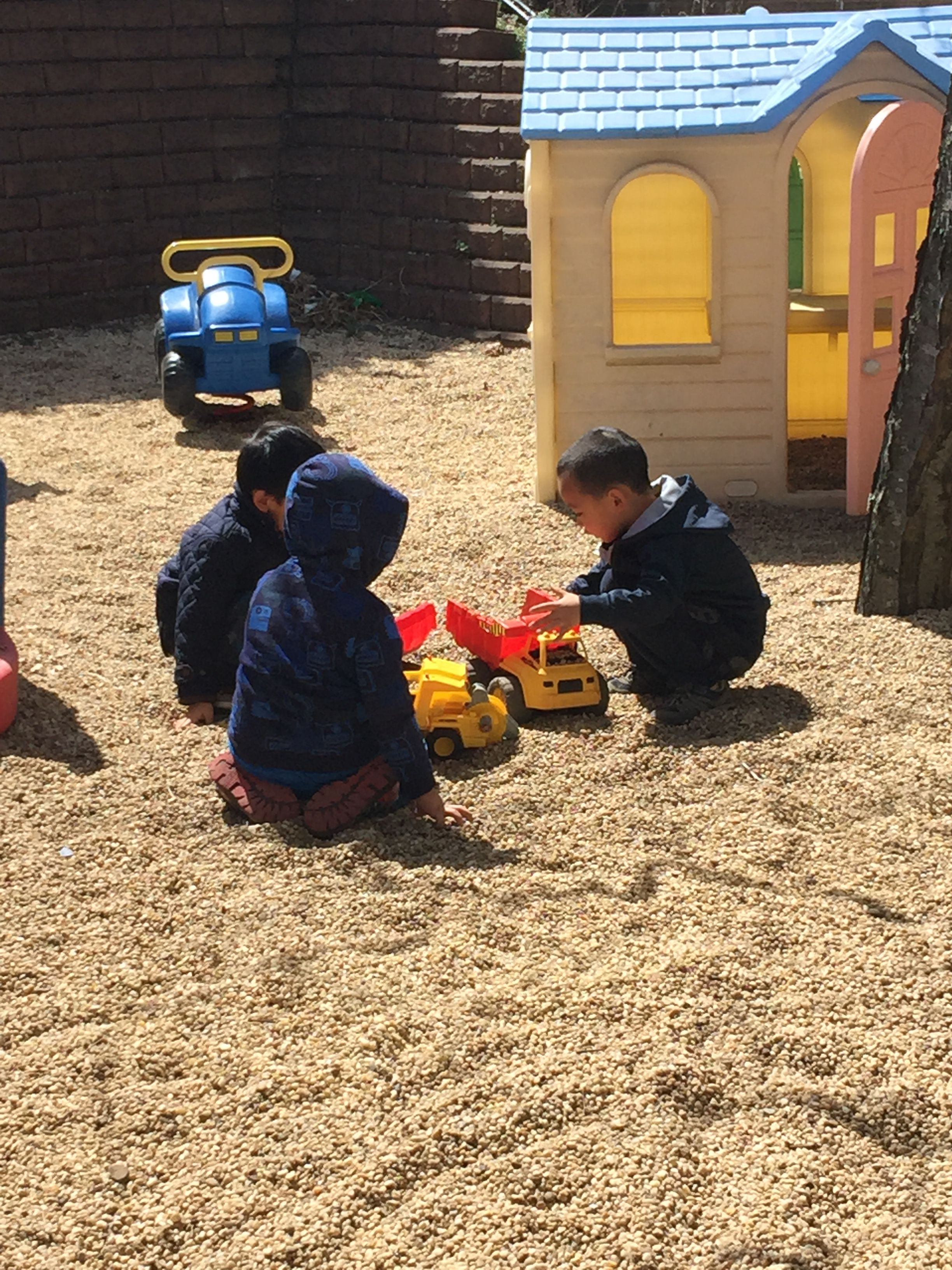 Some Of Our Nursery Class Children Enjoying Some Fresh Air And Warm Weather On One Of Our Two Outdoor Playgrounds Outdoor Playground Fresh Air Playground