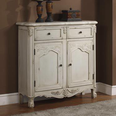 """Antique White"" 1-Drawer, 2-Door Console"