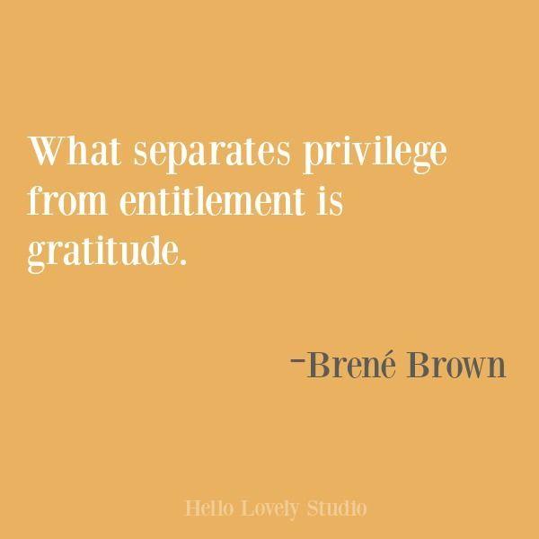 Brene Brown Gratitude Quote