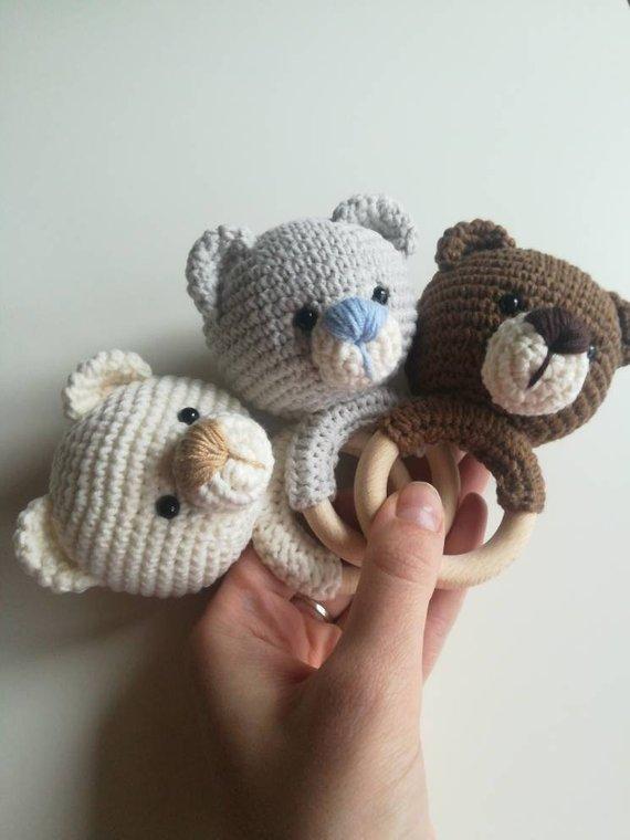 teddy bear nursery Coffee crochet teddy bear knitted plush personalized bear stuffed teddy bear baby shower gift,teddy bear toy doll