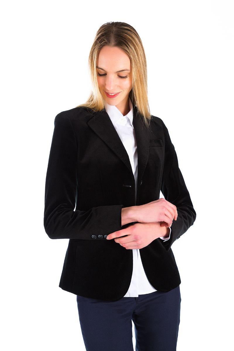 Veste femme en velours ras